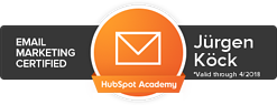 E-Mail Marketing Badge Hubspot JK