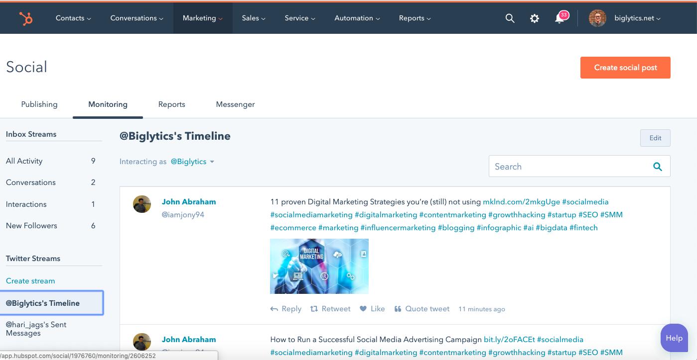 timeline-hubspot